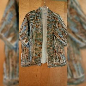 Chico's Sz 2 Spring Open Front Jacket